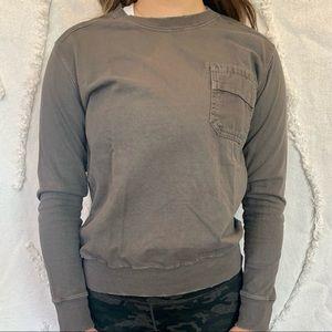 CURRENT/ELLIOT pullover grey sweatshirt w pocket